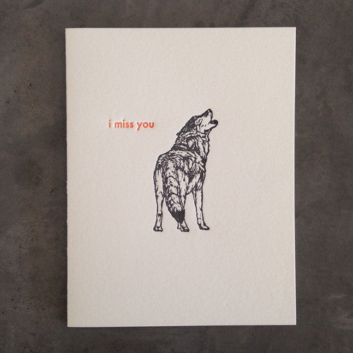 Wolf - I Miss You Card