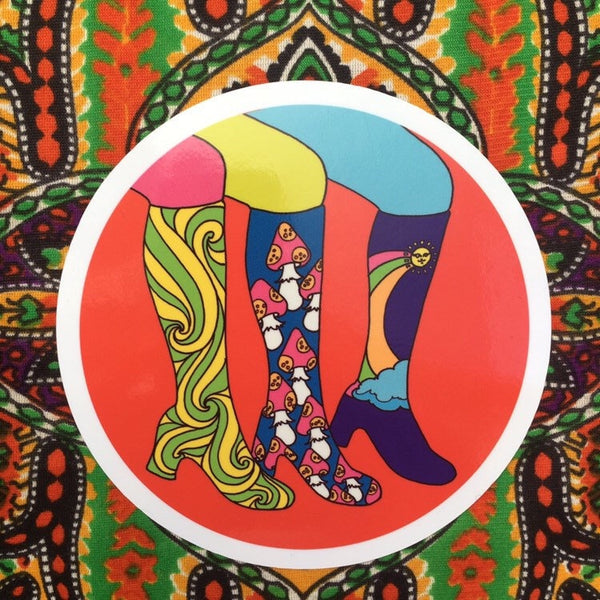 Groovy Boots Sticker 5""
