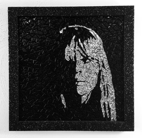 Nico Mirror Mosaic Tile Art Framed