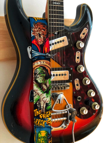 Movie Monsters Guitar Strap