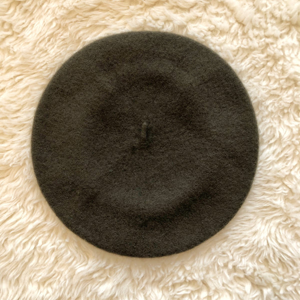 Wool Beret Army Green