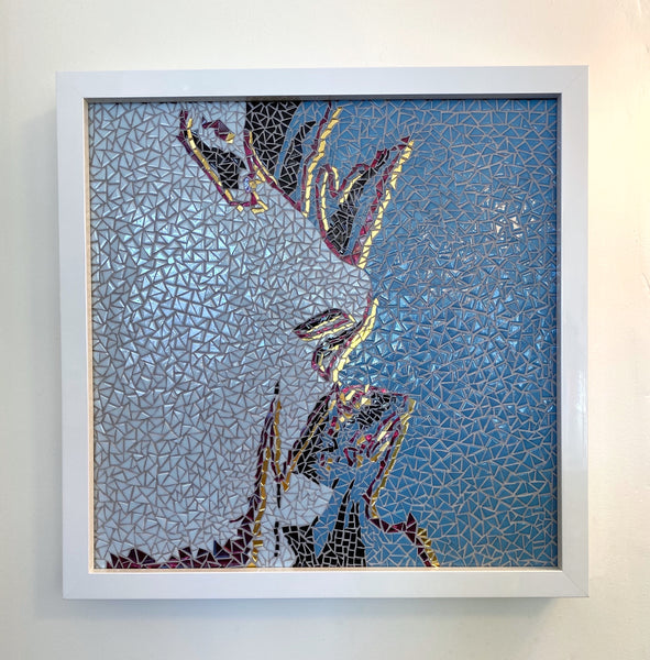 Glider MBV Mosaic Tile Art Framed