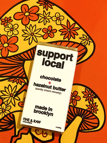 Support Local (Sanity Check Remedy) Chocolate + Hazelnut Butter Bar 1 oz.