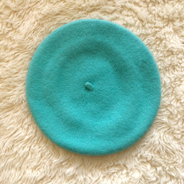 Wool Beret Turquoise