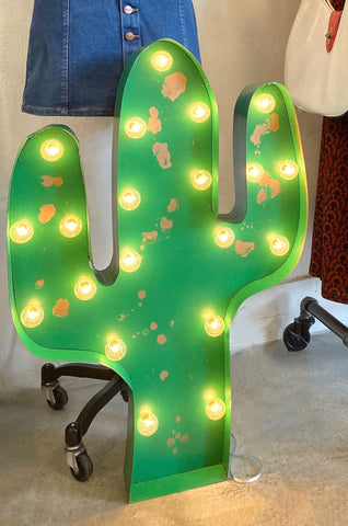Marquee Giant Green Cactus Sign