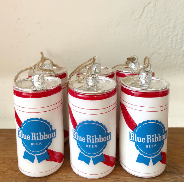 Blue Ribbon Beer Can Ornament