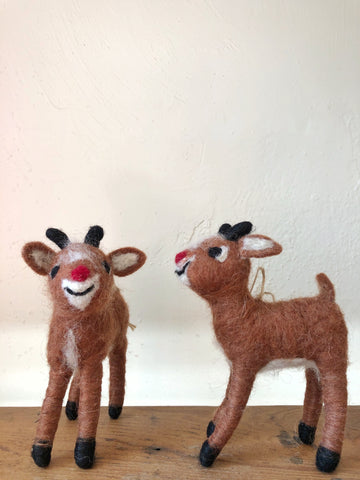 Felted Rudolph Ornament