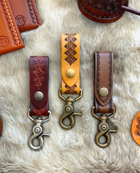 Leather Belt Key Fob