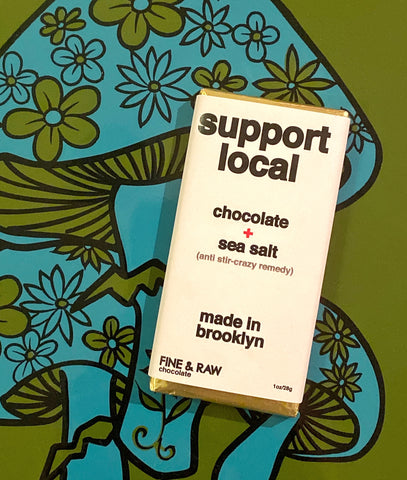 Support Local (Anti Stir Crazy Remedy) Sea Salt + Chocolate Bar 1 oz.