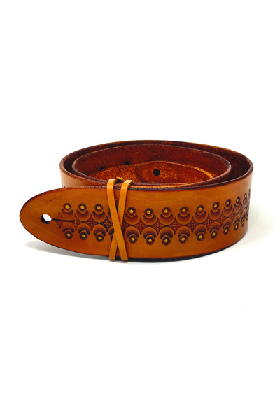 Tiger's Eye Leather Guitar Strap