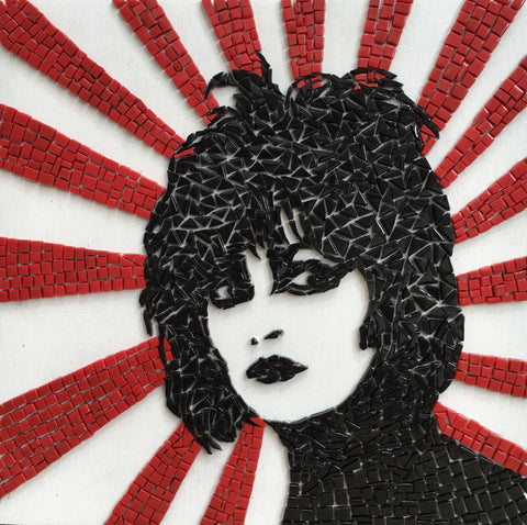 Siouxsie Mosaic Tile Art Framed