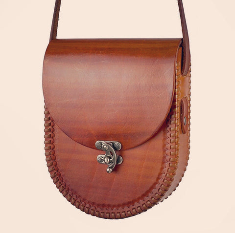 Ramona Chestnut Leather Purse