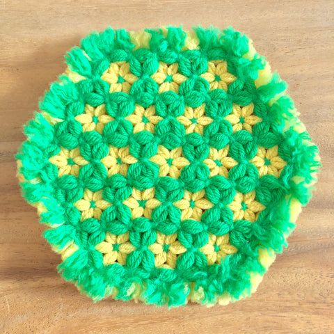 Vintage crocheted hot pad