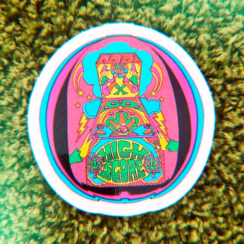 Pinball Sticker 3""