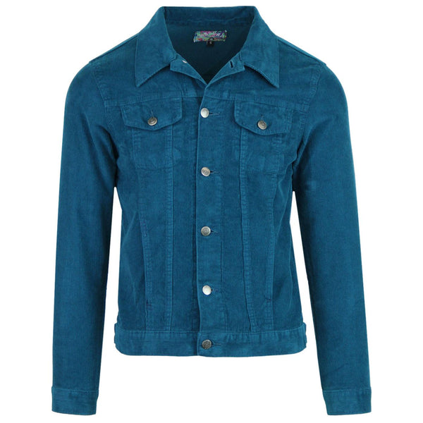 Woburn Cord Jacket Ink Blue