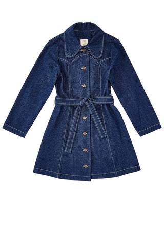 Denim Trench Jacket Dress