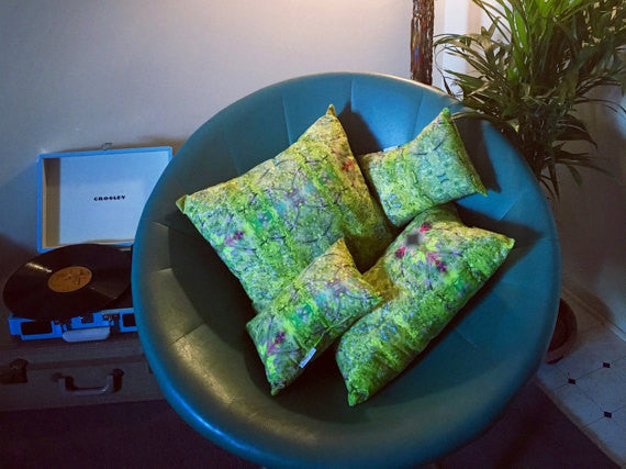 Kaleidoscope Leaves Pillow Large