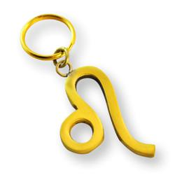Brass Zodiac Key Ring Leo
