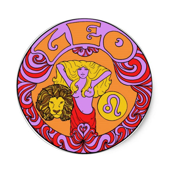 Leo Zodiac Sticker 3""