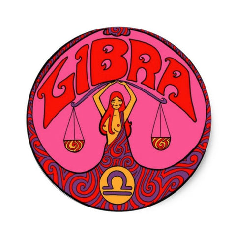 Libra Zodiac Sticker 3""