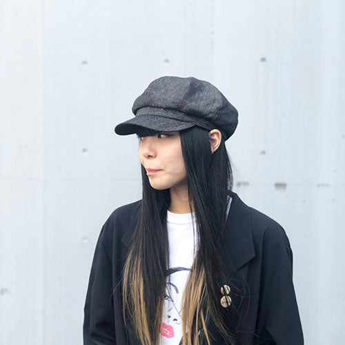 Casquette Linen Denim Black