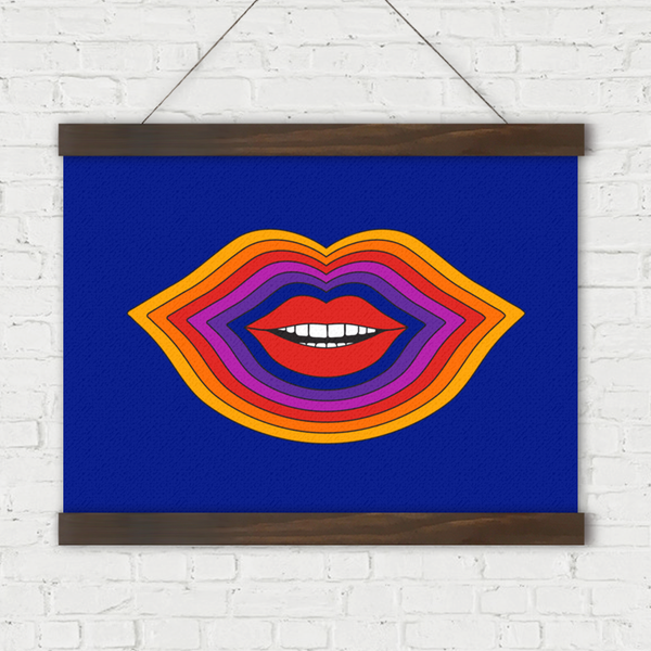 Lips Linen Wall Hanging
