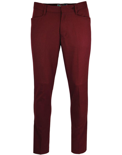 Logan Slim Trousers Burgundy