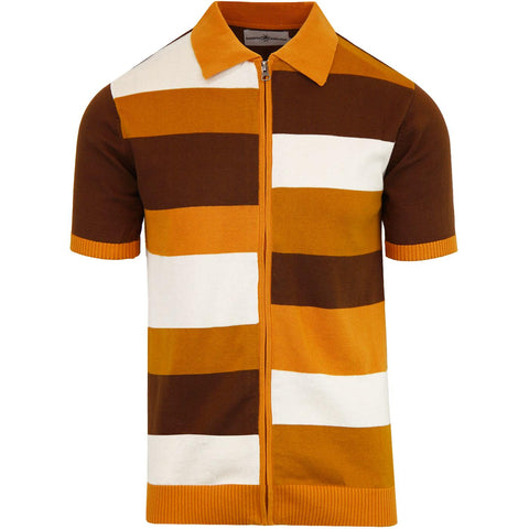Hendrix Mod Tile Zip Up Polo