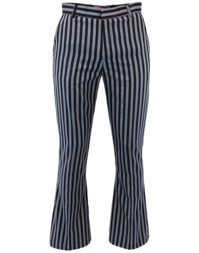 Midnight Lamp Flares Trousers Navy/Silver