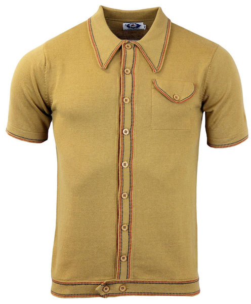 Crawdaddy Polo Cardigan Caramel
