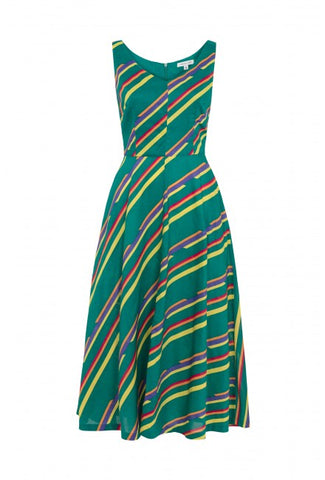 Margot Multi Stripe Midi Dress