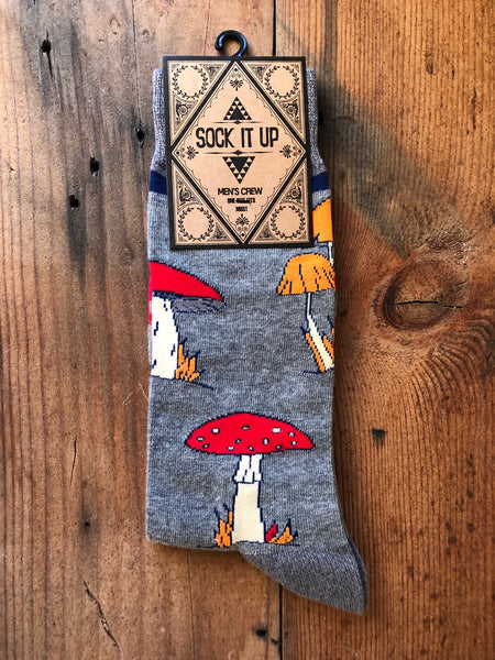 Shrooms Men's Crew Socks
