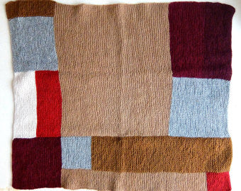 Brown Mondrian Block Blanket