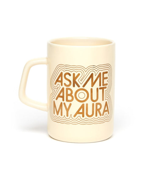 Ask Me About My Aura Ceramic Mug