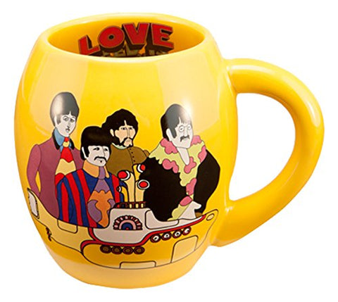 The Beatles Yellow Submarine Oval Ceramic Mug