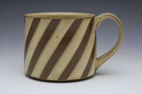 Diagonal Stripe Mug Yellow
