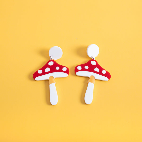 Magic Mushroom Stud Earrings
