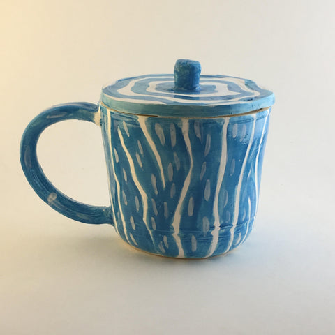 Neon Mug with Handle and Lid