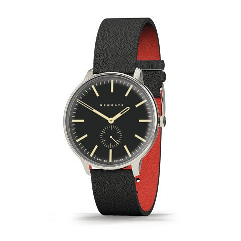 BLIP Watch Reverse Dial Black Leather Strap