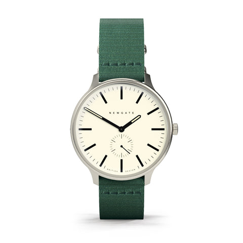 BLIP Watch Reverse Dial Canvas Green Strap