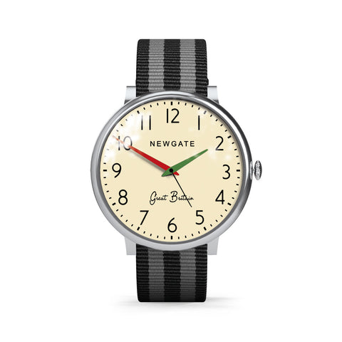 Club Watch Grey & Black Canvas Strap