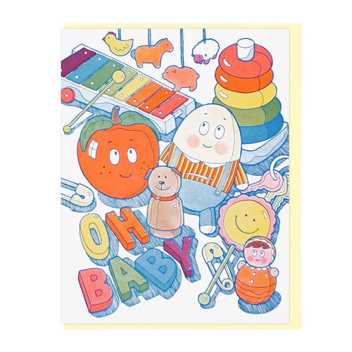 Oh Baby Toys Greeting Card