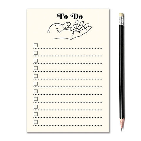Open Hand To Do List Notepad