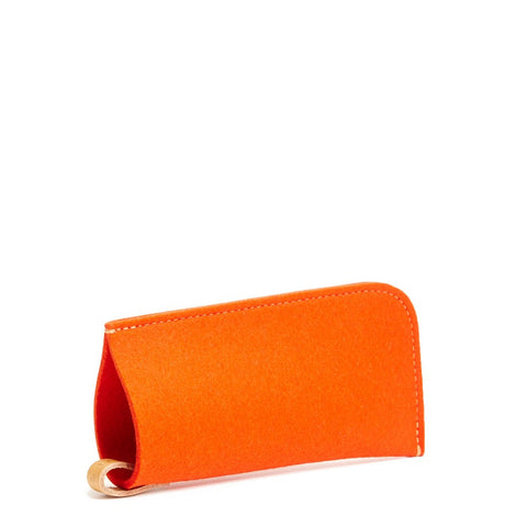 Eyeglass Sleeve Orange Felt