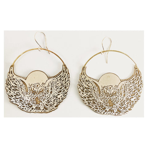 Moon Owl Earrings