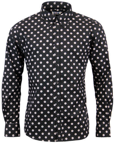Penny Dot Lane Mod Shirt Black/Grey