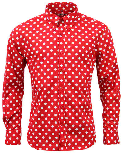 Penny Dot Lane Mod Shirt Red