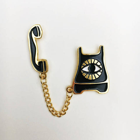 Psychic Phone Enamel Pin