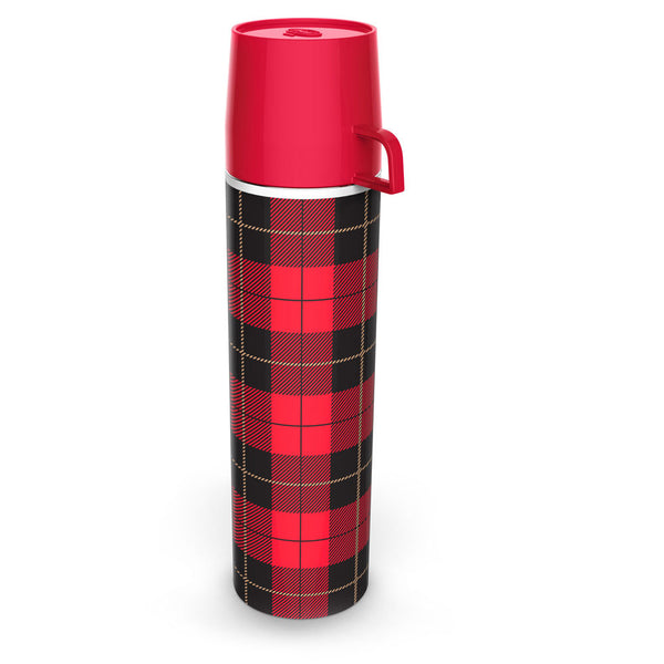 Picnip Plaid Flask Vintage Style
