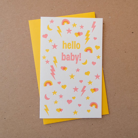 Busy Baby Pink Card